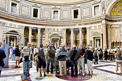 Pantheon in Rome Editorial Photography