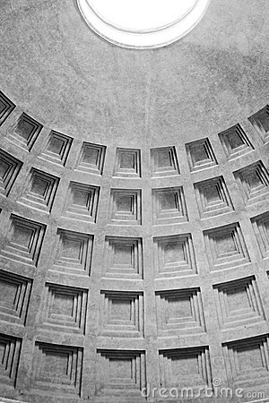 Pantheon roof details Rome