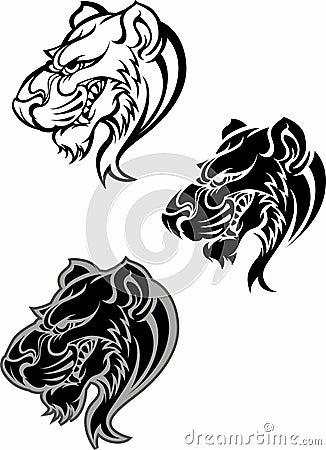 Panther Cougar Mascot Logo