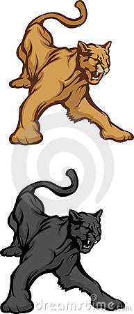 Panther Cougar Mascot Vector Logo