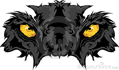 Panther Eyes Mascot Graphic
