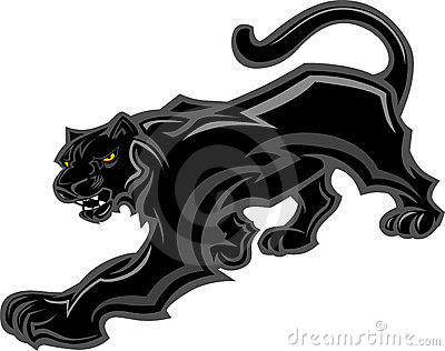 Panther Mascot Body Graphic