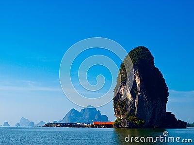 Panyi island at south of Thailand
