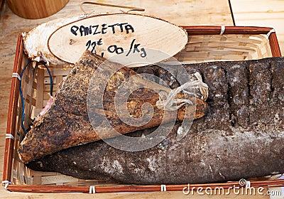 Panzetta sasage on Provence market