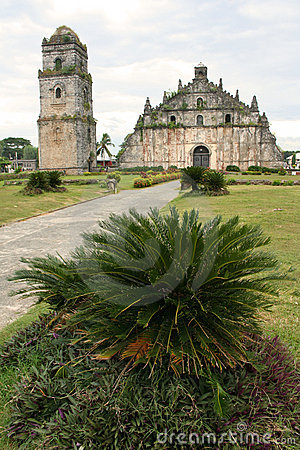 Paoay old colonial church ilocos philippines