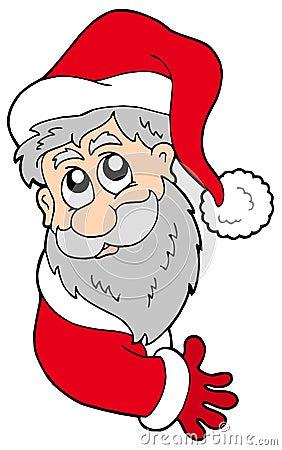 Papá Noel que está al acecho