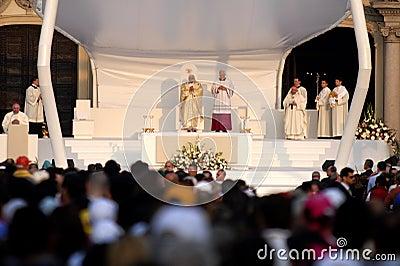 Papa Joseph Benedict XVI Fotografia Editorial