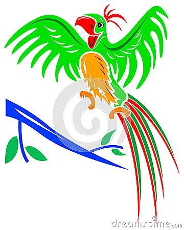 Papagaio alegre