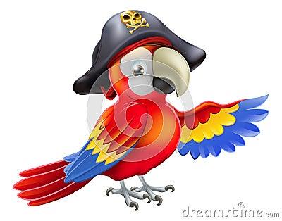 Papagaio do pirata dos desenhos animados