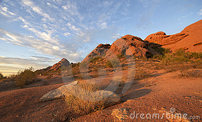 Papago Park, Red rock Butte in Phoenix,AZ