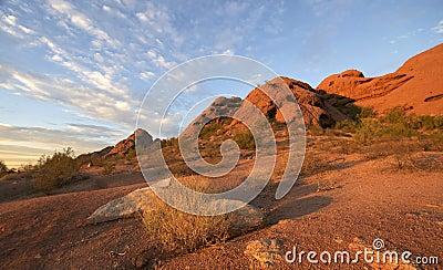 Papago Park, Red rock Butte in Phoenix,AZ
