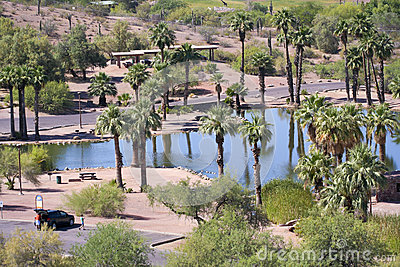 A Papago Park Scene in Phoenix, Arizona Editorial Photo