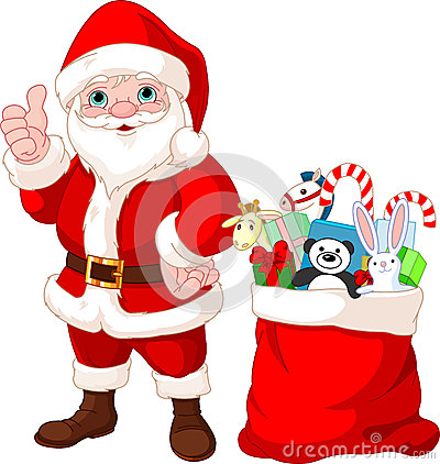 Papai Noel e presentes
