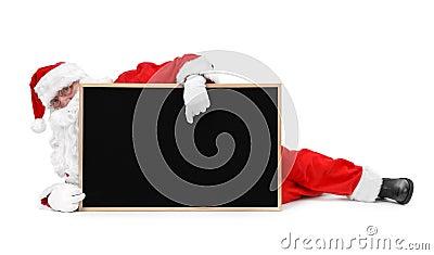 Papai Noel e quadro-negro pequeno