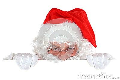 Papai Noel escondendo