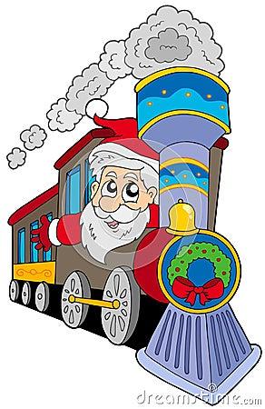 Papai Noel no trem