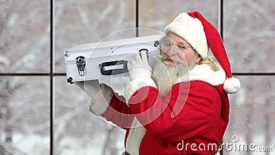 Papai Noel tem muito dinheiro video estoque