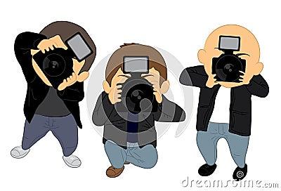 Paparazzi Stock Illust...