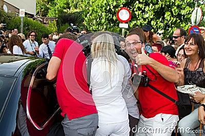 Paparazzi harassment Editorial Stock Photo