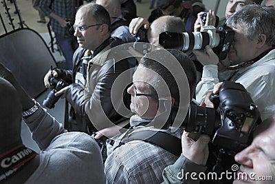 Paparazzi photographers Editorial Photo