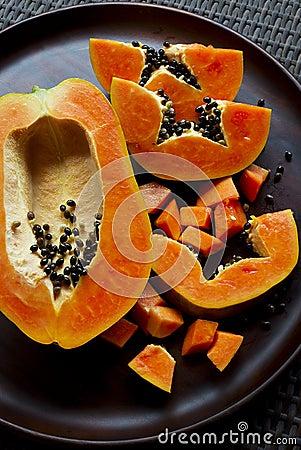 Free Papaya Royalty Free Stock Image - 44074646