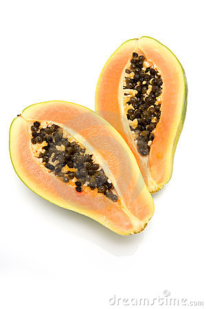 Free Papaya Halves Royalty Free Stock Photos - 1352258
