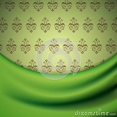 Papel de parede e drapery