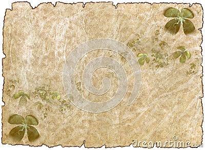 Em busca das 4 relíquias | Ω Aaron Black Mettus,Ω Johnny Singer,☆Lhokita,Orik Cromwell, Ω Alexis von Teese e Ω Daniel Ritter. Papel-de-pergaminho-antigo-aacutespero-velho-com-shamrock-thumb13255101