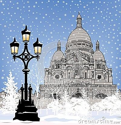 Papel pintado de la ciudad nevado fondo de la nieve del for Papel pintado ciudades