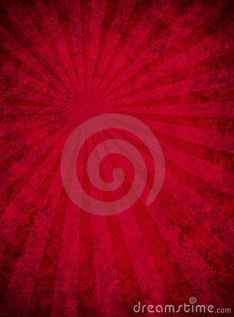 Papel rojo sucio con el modelo del haz luminoso