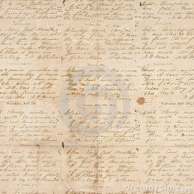 Papel textured plegable vendimia antigua con la escritura