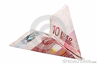 Paper 10 Euro Plane
