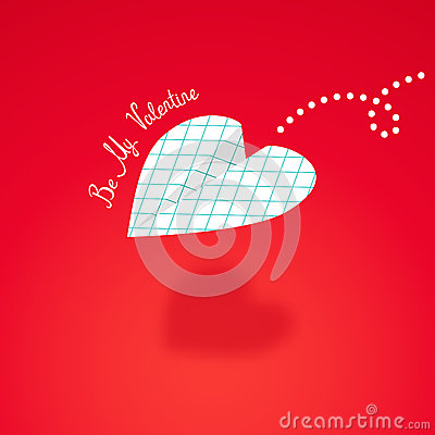 Free Paper Airplane In The Cage, Built In The Shape Of Heart. Royalty Free Stock Photo - 49028015