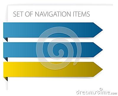 Paper arrows - modern navigation items