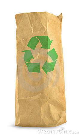 Free Paper Bag And Recycle Symbol Royalty Free Stock Photo - 3464615