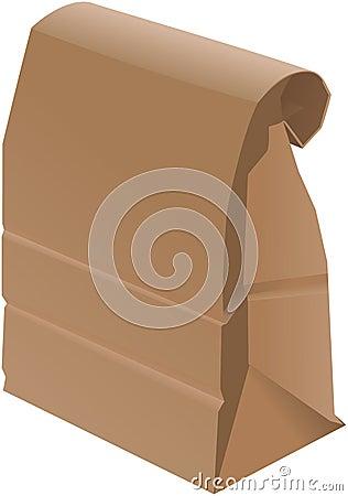 Free Paper Bag - Folded Stock Photo - 6114790