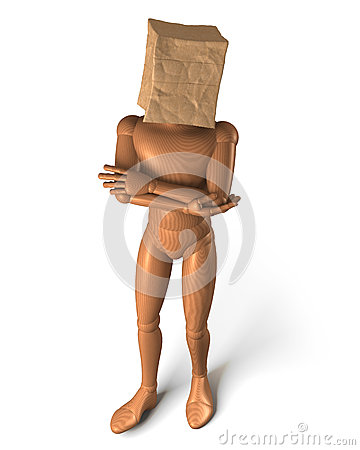 Paper bag head relaxed