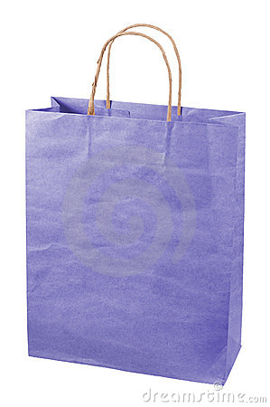 Paper bag isolated.