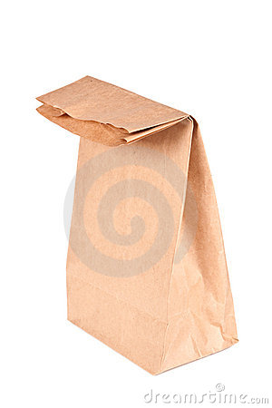 Paper bag (lunch bag) isolated