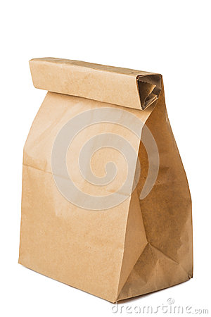 Free Paper Bag Of Brown Color Royalty Free Stock Photography - 53351427