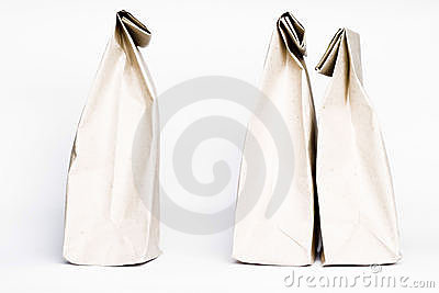 Paper bags abstract