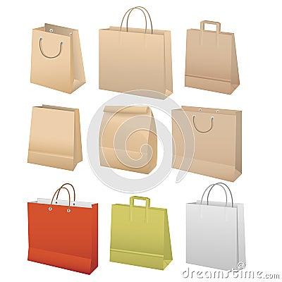 Paper bags set