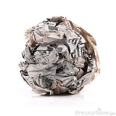 Free Paper Ball Royalty Free Stock Photos - 27201628