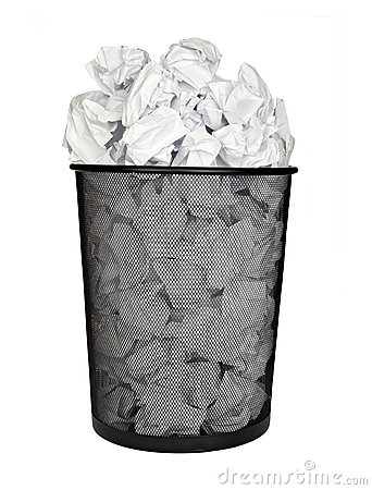 Free Paper Ball Waste Paper Bin Office Business Stock Images - 14530564