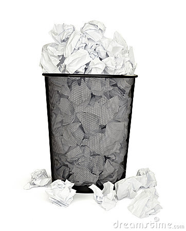 Free Paper Ball Waste Paper Bin Office Business Royalty Free Stock Photo - 14530655