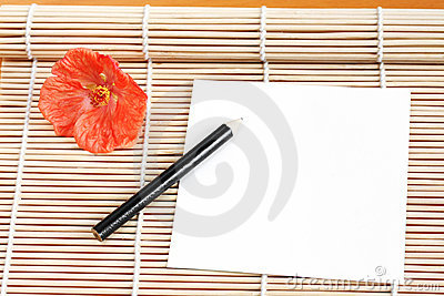 Paper on Bamboo Mat
