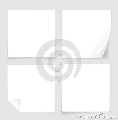 Paper Banner Blank. Vector Vector Illustration