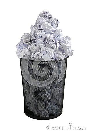 Free Paper Bin Royalty Free Stock Image - 14836276