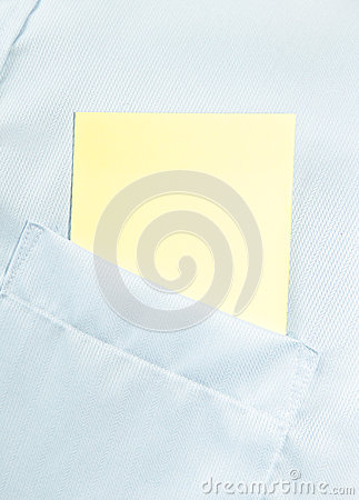 Paper blank in the classic shirt pocket with space for text