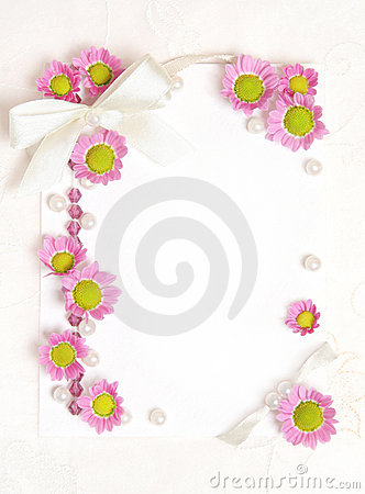 Paper blank with flowers design